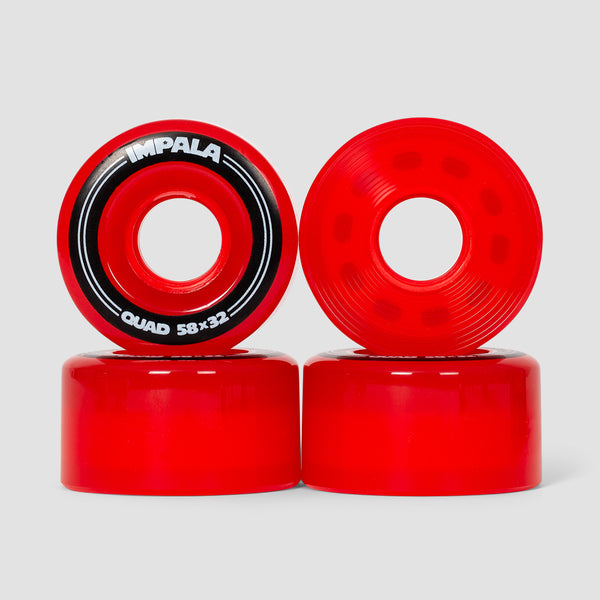 Impala Quad Wheels x4 Red