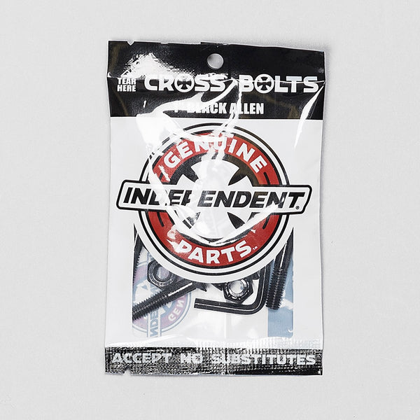 Independent Allen Bolts 1 Inch Black x8 - Skateboard