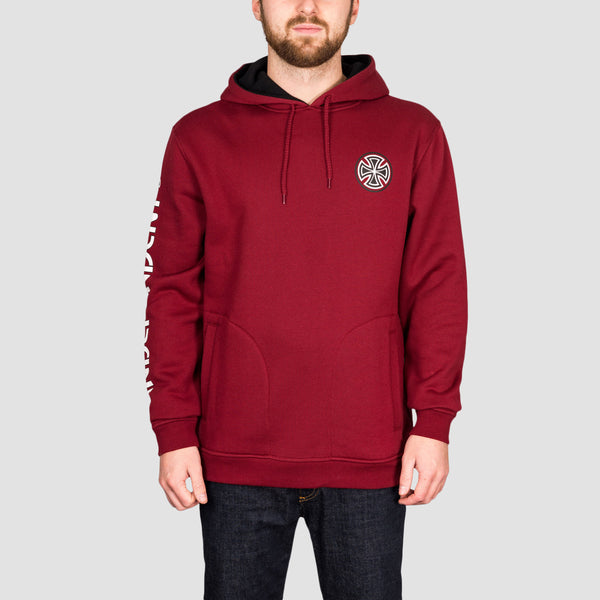 Independent B/C Uphold Pullover Hood Burgundy