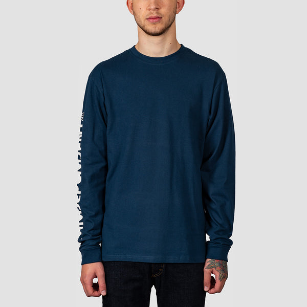 Independent Bar Cross Longsleeve Tee Navy