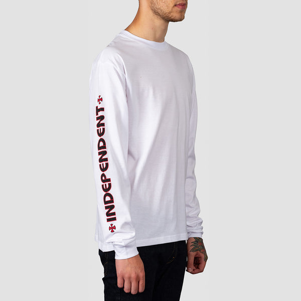 Independent Bar Cross Longsleeve Tee White