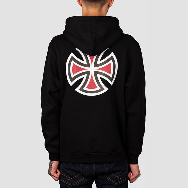 Independent Bar Cross Pullover Hood Black