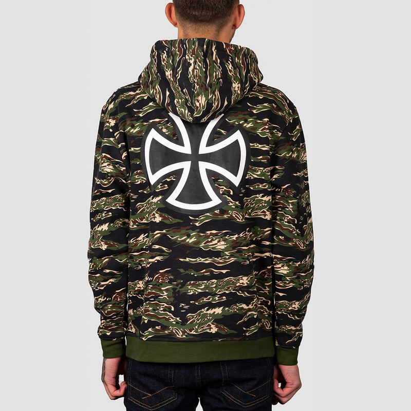 Independent Bar Cross Pullover Hood Tiger Camo
