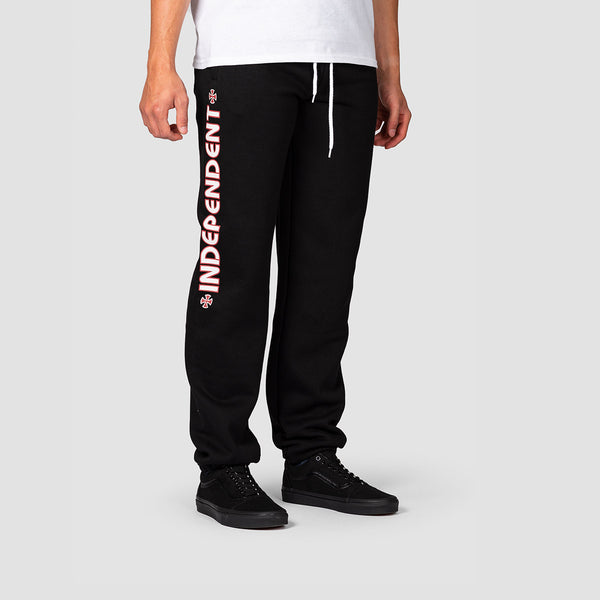 Independent Bar Cross Sweatpants Black