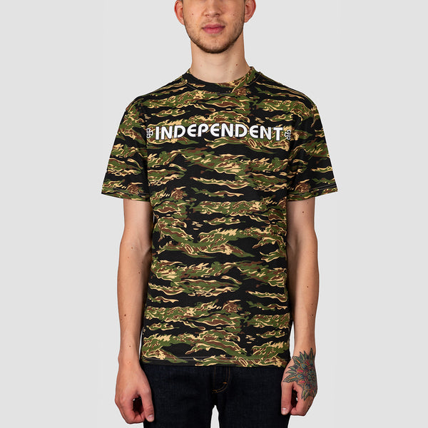 Independent Bar Cross Tee Tiger Camo