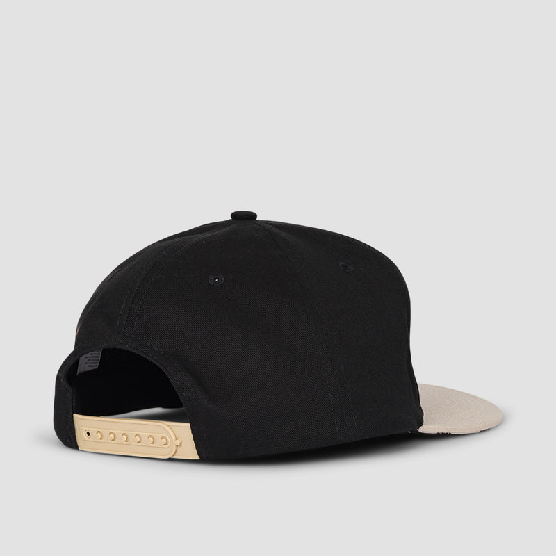 Independent Hachure Snapback Cap Black/Athletic Heather