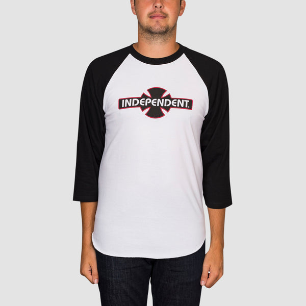 Independent OGBC 3/4 Baseball Tee Black/White
