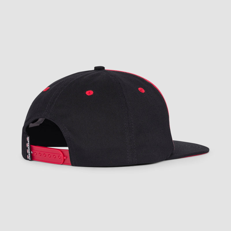 Independent x Thrasher Pentagram Cross Snapback Cap Cardinal/Black