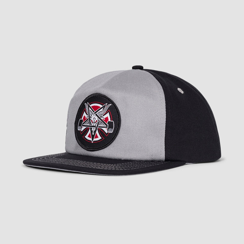 Independent Pentagram Cross Snapback Cap Grey/Black