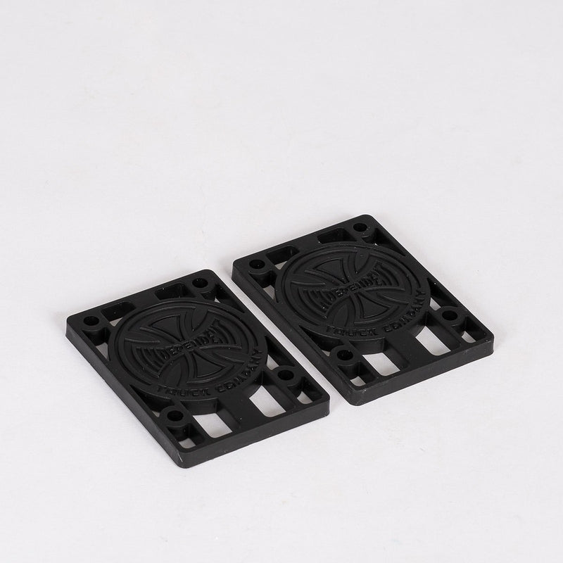 Independent Risers x2 Black 1/4 Inch - Skateboard
