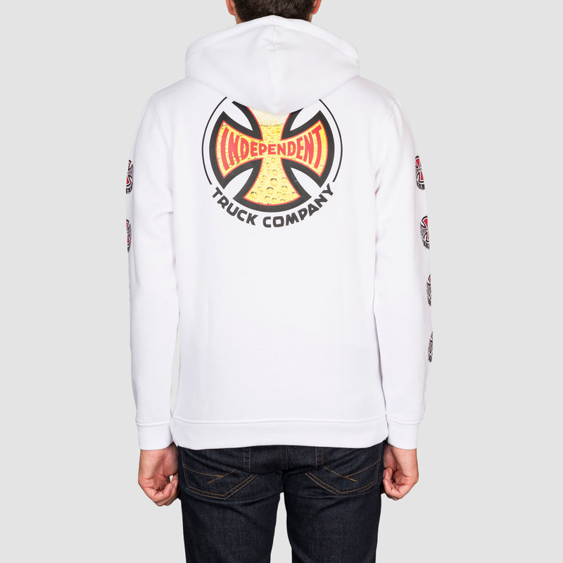 Independent Suds Pullover Hood White