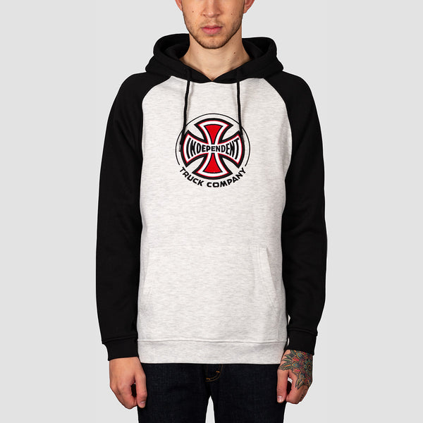 Independent Truck Co Raglan Pullover Hood Black/Athletic Heather