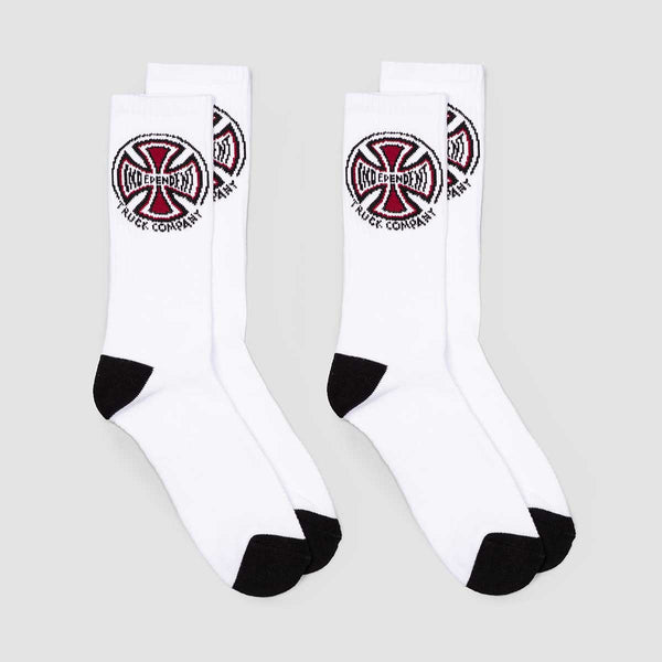 Independent Truck Co Socks 2 Pack White