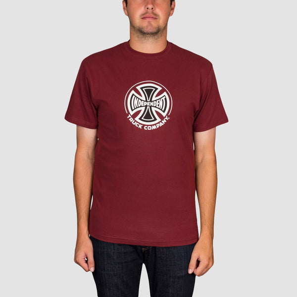Independent Truck Co Tee Burgundy