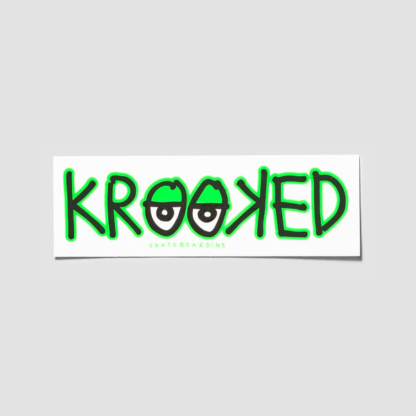 Krooked Eyes Sticker Green 180x60mm