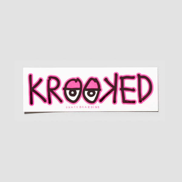 Krooked Eyes Sticker Pink 180x60mm