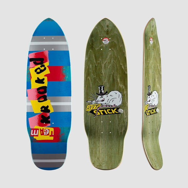 Krooked Rat Stick Deck Blue/Multi - 8.75 - Skateboard