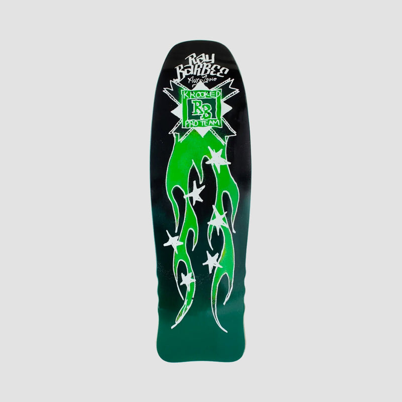 Krooked Ray Barbee Flames Deck Black/Green - 10""