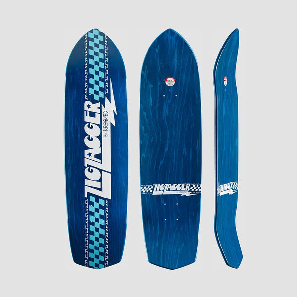 Krooked Zip Zagger RGB Deck Blue - 8.62 - Skateboard