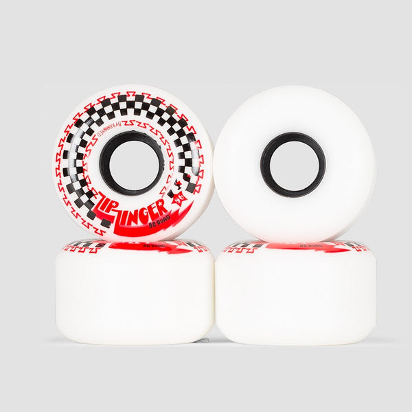 Krooked Zip Zinger 80HD Wheels White 56mm - Skateboard