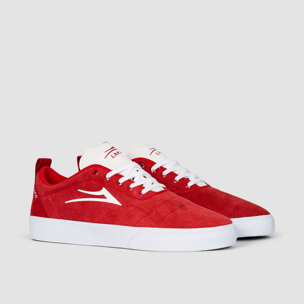 Lakai Bristol Red/White Suede