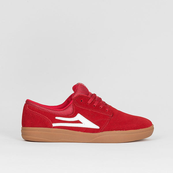 Lakai Griffin XLK Red/Gum Suede - Footwear