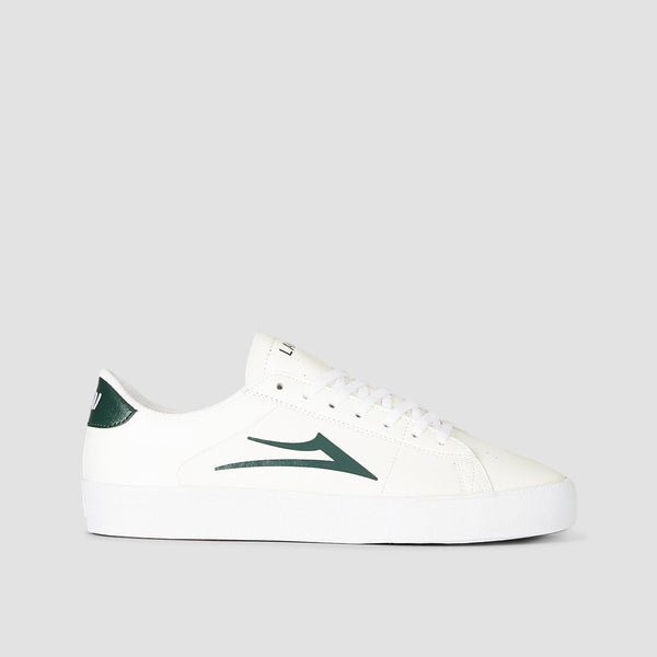 Lakai Newport White/Pine Leather - Footwear