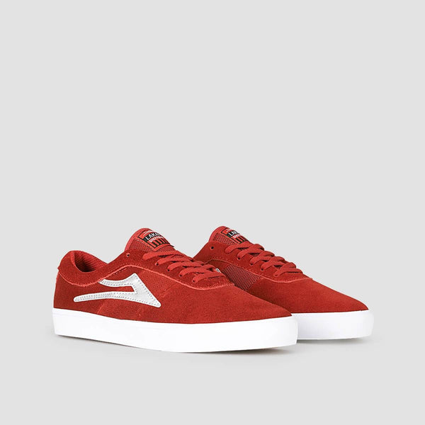 Lakai Sheffield Red/Silver Suede - Footwear