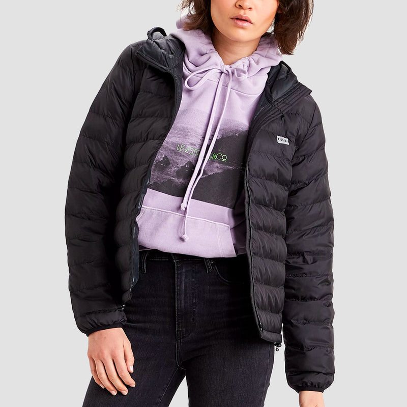 Levis Pandora Packable Jacket Caviar - Womens