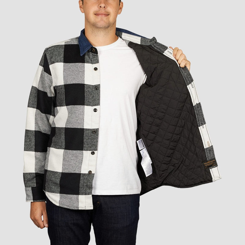 Levis Skate Quilted Mason Shirt Manatee Bright White - Clothing