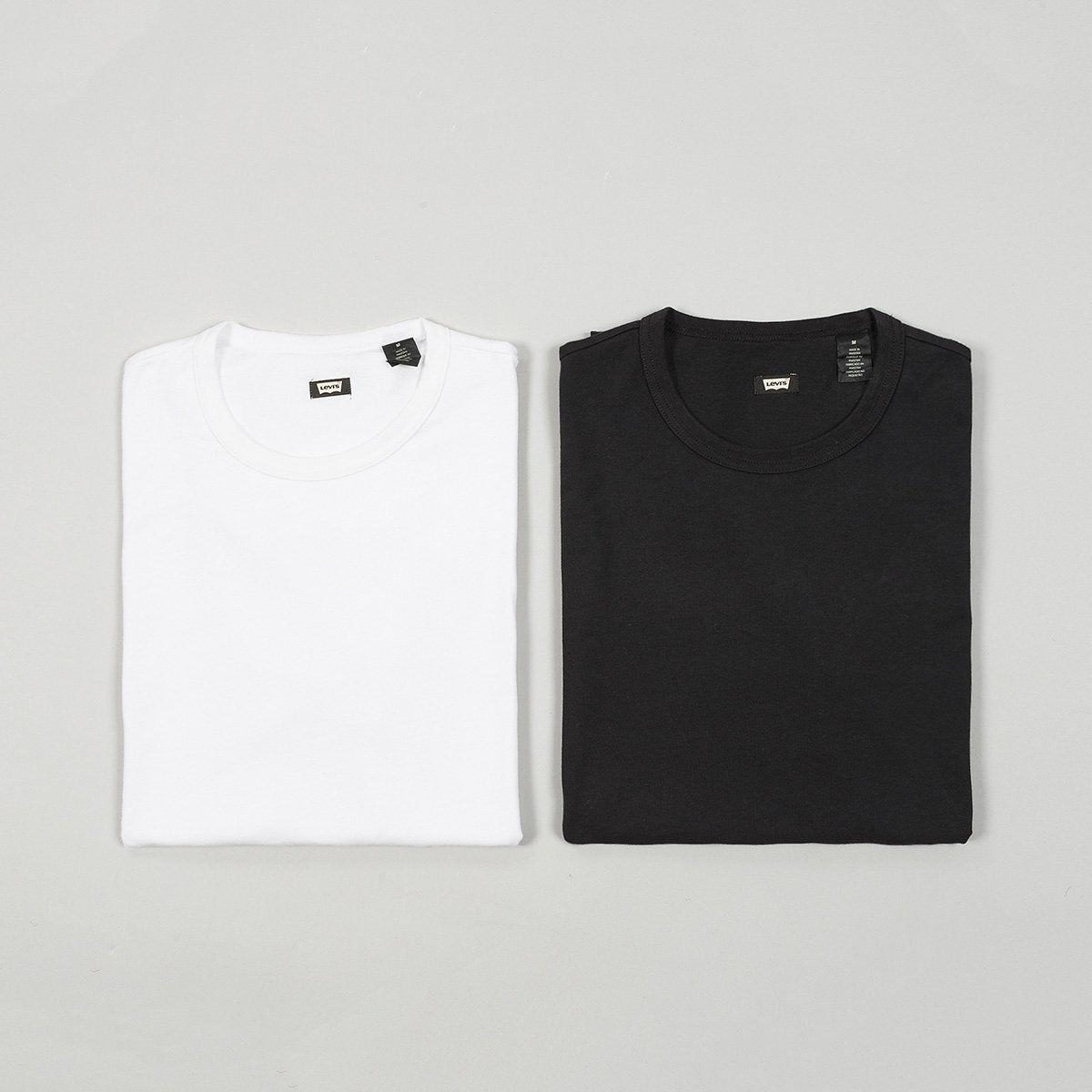 Levis Skate Tee 2 Pack White/Jet Black - Clothing