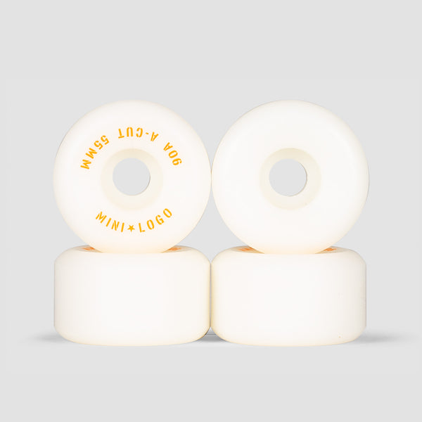 Mini Logo A-Cut 2 90a Hybrid Wheels White 55mm