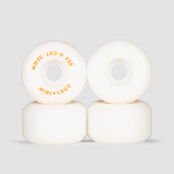 Mini Logo A-Cut 2 95a Hybrid Wheels White 52mm