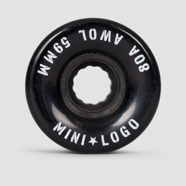Mini Logo A.W.O.L. 80a ATF Wheels Black 59mm
