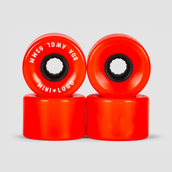 Mini Logo A.W.O.L. 80a ATF Wheels Red 63mm