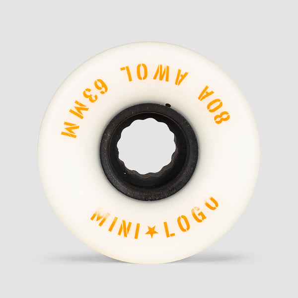 Mini Logo A.W.O.L. 80a ATF Wheels White 63mm