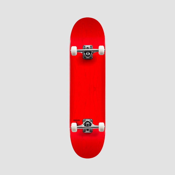 Mini Logo Chevron Detonator 243 Birch Pre-Built Complete Dyed Red - 8.25""