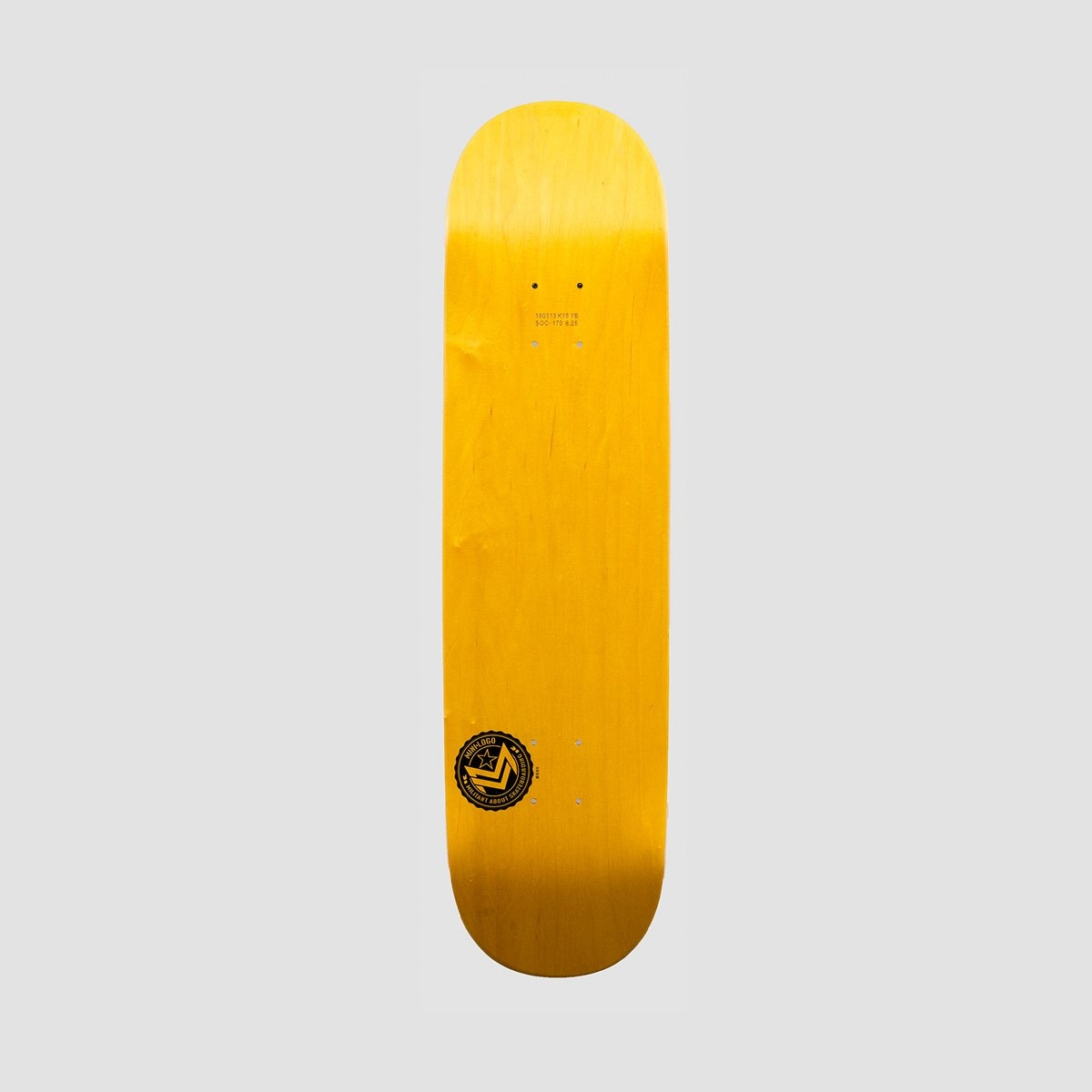 Mini Logo Chevron Stamp #170 Deck Birch Dyed Yellow - 8.25 - Skateboard