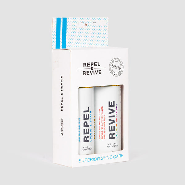 Mr Lacy Repel & Revive Shoe Care Duo Pack 200ml x2