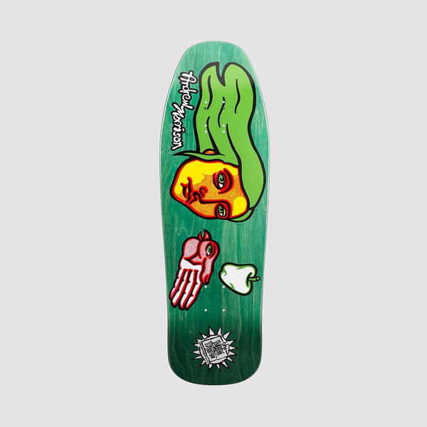 New Deal Morrison Bird Screen Print Deck Green - 9.875 - Skateboard