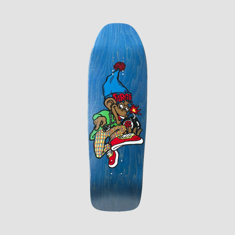New Deal Sargent Monkey Bomber Screen Print Deck Blue - 9.625 - Skateboard
