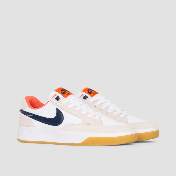 Nike SB Adversary Premium White/Midnight Navy/Turf Orange - Unisex L