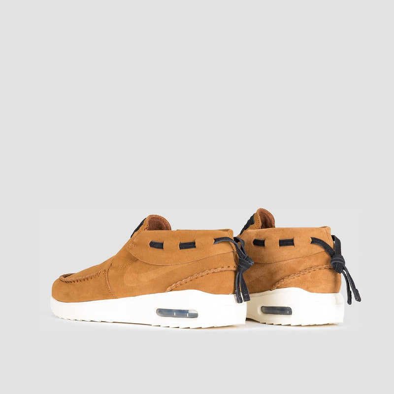Nike SB Air Max Stefan Janoski 2 Moc Light British Tan/Light British Tan/Black - Unisex L - Footwear