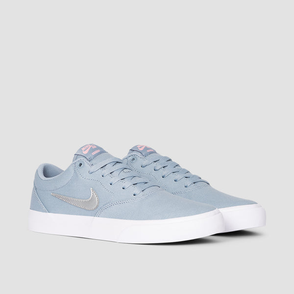 Nike SB Charge Canvas Obsidian Mist/Metallic Silver - Womens