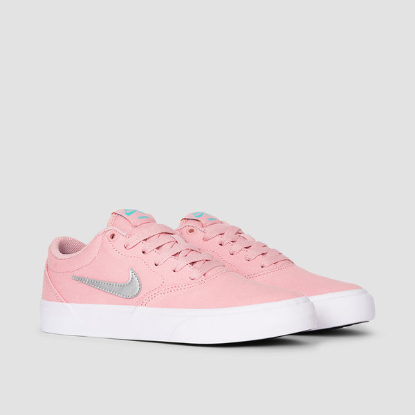 Nike SB Charge Canvas Pink Glaze/Metallic Silver/Pink Glaze - Womens