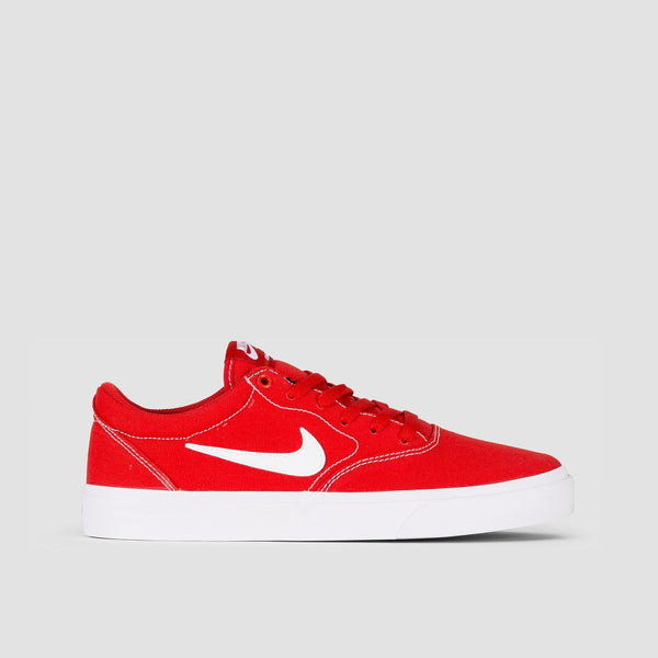 Nike SB Charge Solarsoft Textile Mystic Red/White/Mystic Red/Gum Light Brown - Unisex L - Footwear