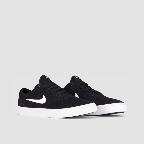 Nike SB Charge Suede Solarsoft Black/White/Black - Unisex L - Footwear