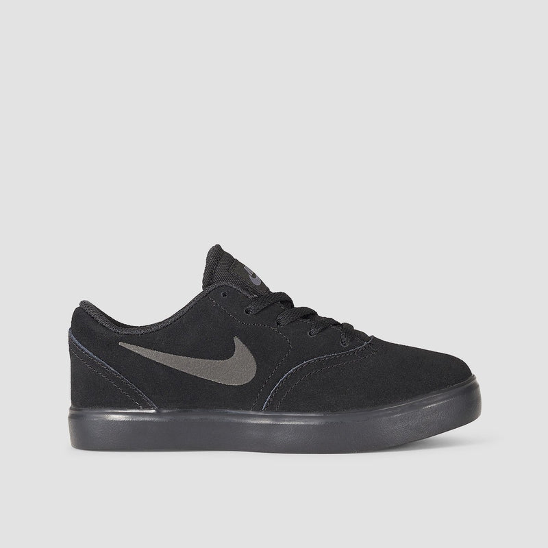 Nike SB Check Suede GS Black/Black/Anthracite - Kids - Footwear