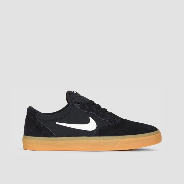 Nike SB Chron Solarsoft Black/White/Gum Light Brown - Unisex L - Footwear