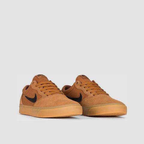 Nike SB Chron Solarsoft Light British Tan/Black/Gum Light Brown - Unisex L - Footwear
